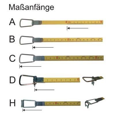 Beliebt Stahl Bandmaß Standard Länge 50 m, mm Teilung, weißlackiert ZB23