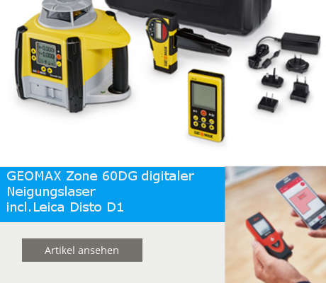 Geomax Zone 60DG incl. Leica Disto D1